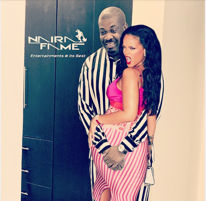 Checkout What Rihanna Did To Don Jazzy That Got Him All Joyous