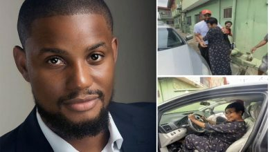 Photo of Alex Ekubo Gifts His Mum A Car To Celebrate His Chieftaincy – Video