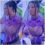 #BBNaija: Nigerians drag Angel for exposing her boobs in a transparent outfit (Video)